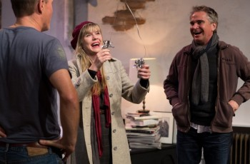Richard Sydenham, Harriet Dyer, Noel Hodda 'Time Stands Still' Darlinghurst Theatre