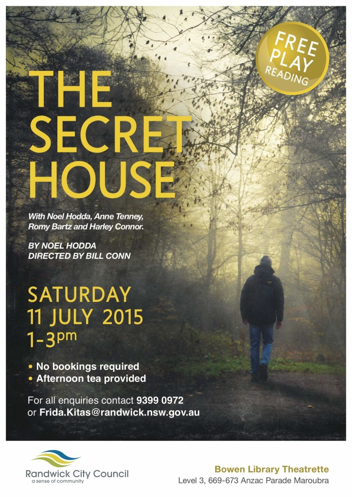 Beautiful poster for recent public reading of THE SECRET HOUSE